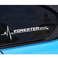 スバルフォレスターSHSJ、2PCSカーサイドウィンドウズビニールステッカーデカール反射オートデコレーションカーステッカー用