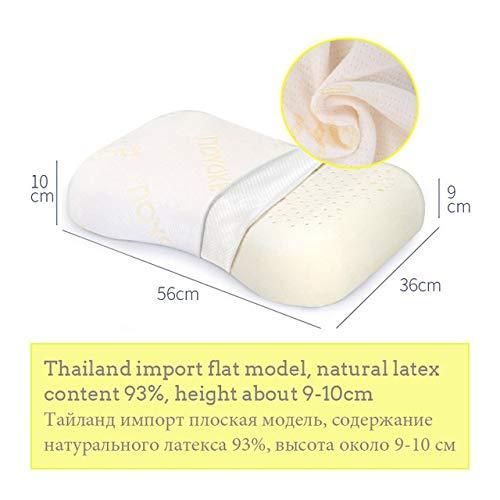 QYA Weich und bequem Schlafen Bett Kissen Nackenmassage Naturlatex Erscheinungsdruckkissen for Wohnzimmer Gut zu Gesundheit (Color : 1572)