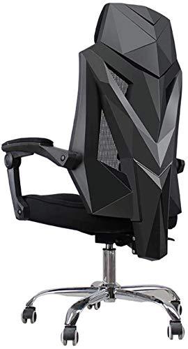 Silla de Oficina Sillas de Videojuegos Mesh Ergonomic High Back Racing Style Silla de computadora para Adultos con Soporte Lumbar Sillón (Color : Black)