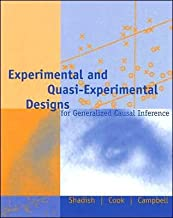 Experimental and Quasi-Experimental Designs for Generalized Causal Inference by William R. Shadish (HMH)