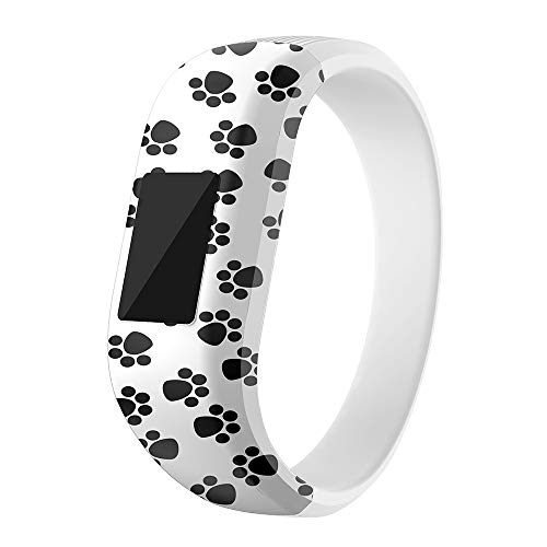 Compatible with Garmin Vivofit JR Bands, Silicone Sports Replacement Band Wristbands Bracelet Straps Accessories Compatible with Garmin Vivofit JR/Vivofit 3 for Kids (White, Small)