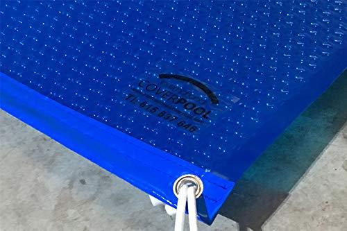 Pool System Schutzplane für Pool mit Blasen, mit Verstärkung in den Breiten GeoBubble 400µ, 5 x 3 m, Blau
