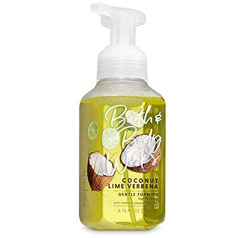 君主傷跡悪用バス&ボディワークス ココナッツライムバーベナ ジェントル フォーミング ハンドソープ Coconut Lime Verbena Gentle Foaming Hand Soap