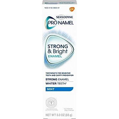 Sensodyne Pronamel Strong and Bright Enamel Toothpaste for Sensitive Teeth, to Reharden and Strengthen Enamel, Mint - 3 Ounces