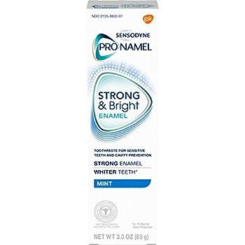 PRONAMEL Sensodyne Pronamel Strong and Bright Enamel Toothpaste for Sensitive Teeth to Reharden and Strengthen Enamel Mint - 3 Ounces