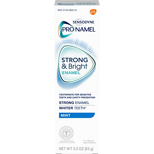 Sensodyne Pronamel Strong and Bright Enamel Toothpaste for Sensitive Teeth, to Reharden and Strengthen Enamel, Mint - 3 Ounces