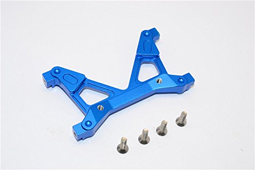 GPM Axial SCX10 II Upgrade Pièces (AX90046, AX90047, AXI90075) Aluminium Rear Chassis Stabilized Mount - 1Pc Set Blue