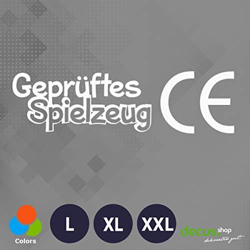 Decus GEPRüFTES Spielzeug CE Zeichen L 1883 (weiß) // Sticker OEM JDM Style Aufkleber