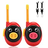 Adsoner Walkie Talkies for Kids, Parent & Children Interactive Toys Games for Indoor and Outdoor Adventures, Easy Push to Talk Button, Set of 2 (Red)