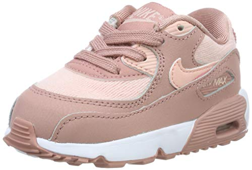 Nike Unisex Baby Air Max 90 Se Mesh (td) Niedrige Hausschuhe, Mehrfarbig (Rust Pink/Storm Pink/Guava Ice/White 601), 21 EU