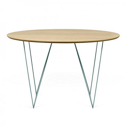 Paris Prix - Temahome - Table De Repas Row 120cm Chêne & Vert d'eau