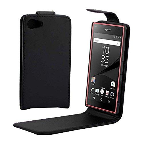 Tangyongjiao Casos del Protector telefónico Estuche de Cuero PU con Hebilla magnética abatible Vertical para Sony Xperia Z5 Compact / Z5 Mini / E5803 / E5823 Piezas de Repuesto de teléfono