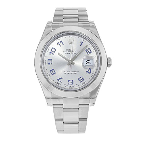 NEW Rolex Datejust II Stainless Steel Grey Dial Mens watch 116300 GAO
