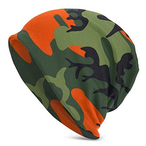 Camuflaje Memorial Day Unisex Mujeres Hombres Slouchy Beanie Hat Gorro de Calavera Holgado de Gran tamaño Gorro de Punto elástico