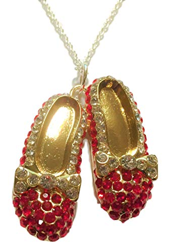 New Horizons Production Wizard of Oz Ruby Red Slippers Rhinestone Pendant Necklace