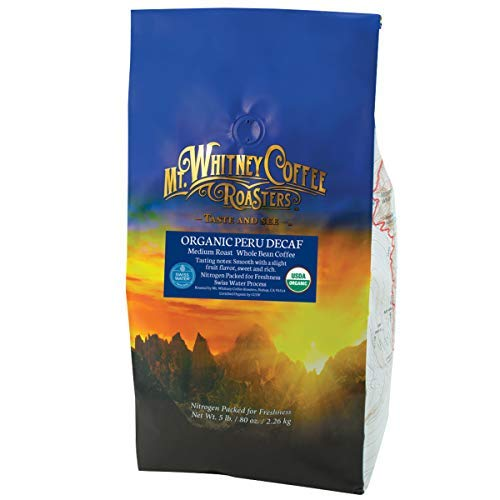 Mt. 67% OFF of fixed price Whitney Organic Swiss Water Decaf Peru Whole Be from Coffee Mail order