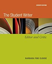 The Student Writer, Editor and Critic (7th Edition)
