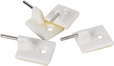 COFAN 61000181 A - Pack 4 houders gordijnen, wit