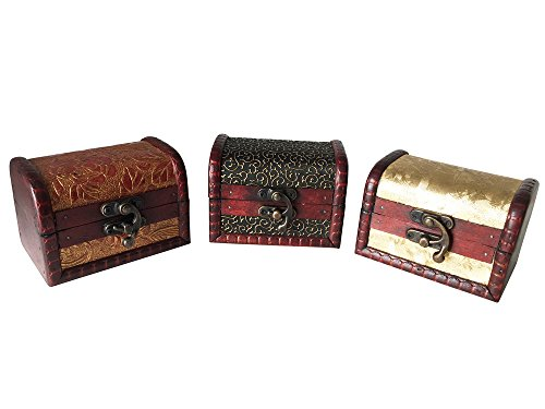 EAST-WEST Trading GmbH Schatztruhe, 3er Set, Schmuckkästchen, Piratenschatztruhen, auch für Geldgeschenke und als Geschenkverpackung