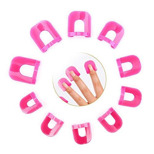 Gresunny Nagellack Schablone 78 Stück in 10 Größen Kunststoff Nagellackschutz Fingernägel Schablonen set Gelnägel Zubehör Nagel-Schablone Nagelschutz Schilde Anti-Spill-Maniküre-Schutzwerkzeuge