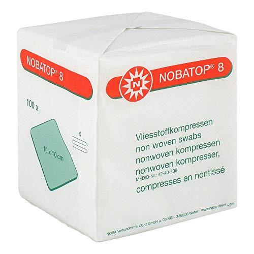 NOBATOP 8 Kompressen 10x10 cm unsteril 100 St Kompressen