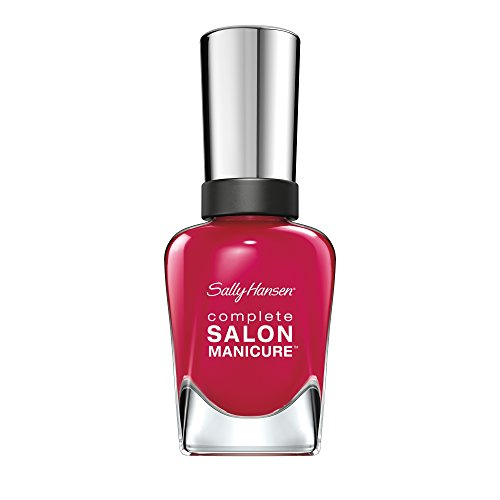 Sally Hansen Complete Salon Manicure Nagellack, Farbe 565, Aria Red, himbeer/rot, 1er Pack (1 x 15 ml)