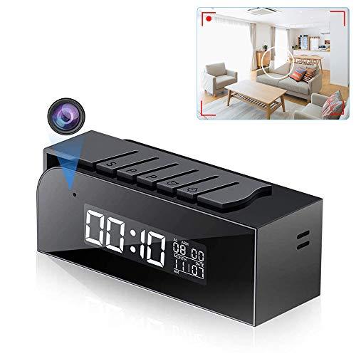 Cámara con Reloj WiFi, Microcámara HD 1080P con 33FT Automático y Reloj de Vsión Nocturna Cámara de Apoyo de Detección de Movimiento y Vídeo en Tiempo Real para el Hogar y la Oficina