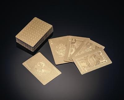 豪華絢爛 純金箔トランプ 黄金トランプ (高級ボックス付)