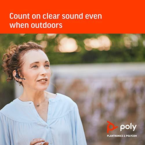 Plantronics - Voyager 5200 (Poly) - Auriculares Bluetooth sobre la Oreja (monoaural) - Compatible para conectar a teléfonos celulares - Cancelación de Ruido