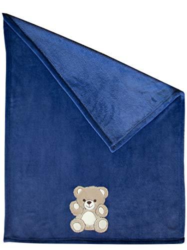 Zollner Manta para bebé, toquilla recién nacido, 100x75 cm, azúl, otros colores