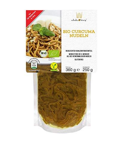 1 Packung | Bio Curcuma Nudeln 250g | Nudeln | Glutenfrei & Vegan | Low Carb | Schultz und König