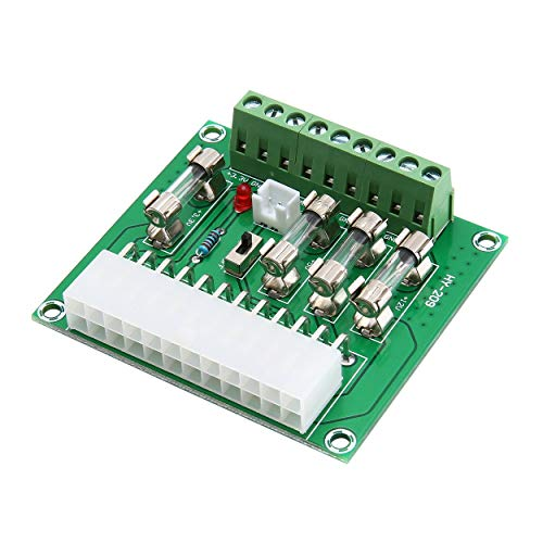 Lodenlli 24/20 Pines ATX Computer PC Power Supply Breakout Board Adaptador Módulo de extensión DIY Kits para computadora de Escritorio