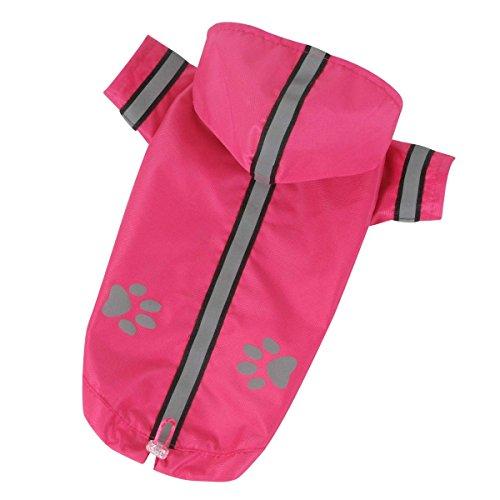 dogOne Impermeable pour Chien reflecteur Pink Nylon de