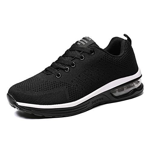 LUOBANIU Damen Sportschuhe Laufschuhe mit Luftpolster Turnschuhe Sneakers Trainer Leichte Air Schuhe (5066Schwarz, 38)