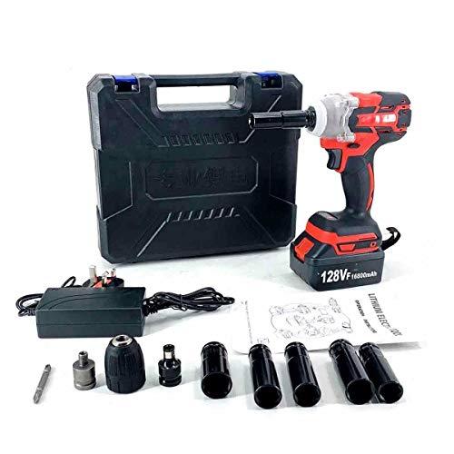 SUDEG Cordless Impact Wrench Set,Electric Impact Wrench,Brushless Cordless Power Tool,Impact Frequency Wrench LED Light 128VF 16800mAh Li-ion Battery 320Nm for Carpenter/Car Repaire