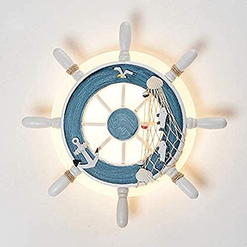 N/Z Wohnausstattung in runden Piratenruder Design mediterranen Stil italienische Design Lampe Indoor dekorative Bar Wand LED-Leuchten für Schlafzimmer weiß?