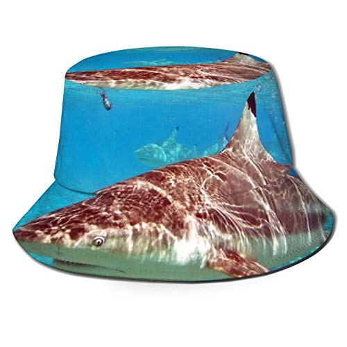 hulili Hai- und Fischerhüte, atmungsaktiv, Unisex, für Angeln, Strand, Wandern, Safari, Camping, Gartenarbeit, Bootfahren, Schwarz