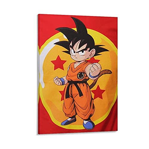 CONGYUAN Póster de dragon-ball-z-dragon-ball-z-son-goku-kids-t-shirt en lienzo y arte de la pared con impresión moderna para dormitorio familiar de 60 x 90 cm