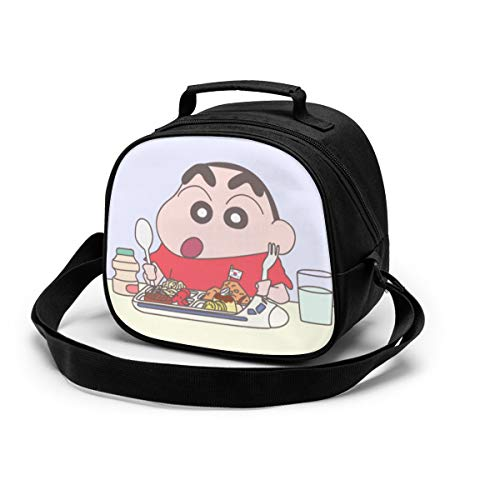 Bolsa de comida para niños Shin-Chan de dibujos animados con aislamiento suave bolsa mini enfriador térmica de comida para niñas niños 8.6 x 5 x 7.5 pulgadas