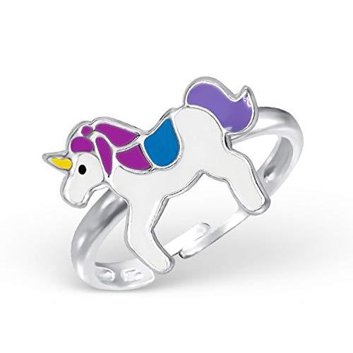 Kinder Ring Fingerring Pferd Einhorn verstellbar 925er Silber Mädchen
