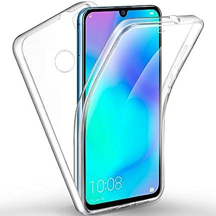 AROYI Funda Huawei P30 Lite, Ultra Slim Doble Cara Carcasa Protector Transparente TPU Silicona + PC Dura Resistente Anti-Arañazos Protectora Case Cover para Huawei P30 Lite