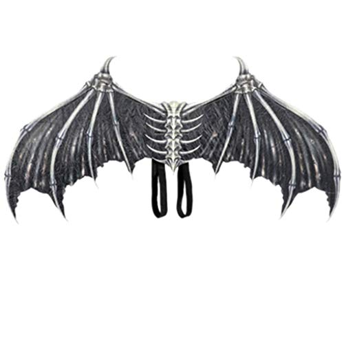 AmyGline Halloween Kostüm Erwachsene Dämon Knochen Flügel Schminke Faltbare Karneval Cosplay Kostüm Festival Requisiten