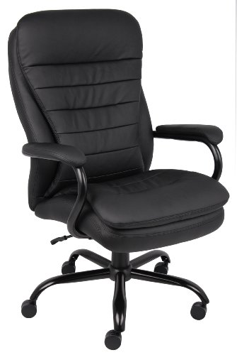 Boss Office Products Heavy Duty Double Plush LeatherPlus Chair...