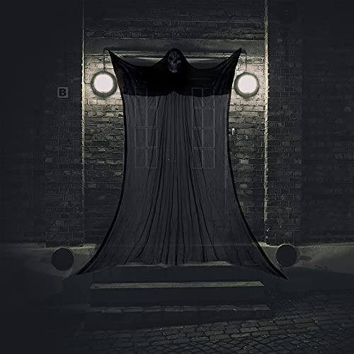 Halcyerdu Fantasma Colgante de Halloween, Fantasma de Decoracin de Puerta de Halloween de 3,3 M, Decoracin de Halloween,Fantasma Colgante de Halloween, Carnaval de Fiesta de Halloween