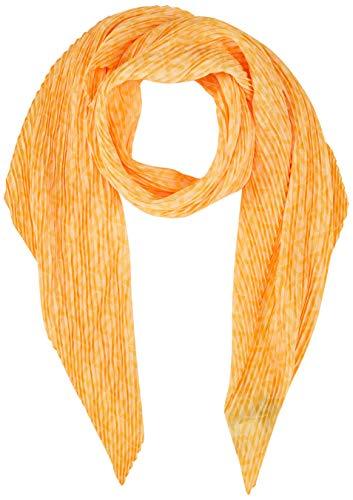 Tommy Hilfiger Damen Plisse Monogram Scarf Schal, Gelb (Sun Ray ZFB), One Size (Herstellergröße: OS)