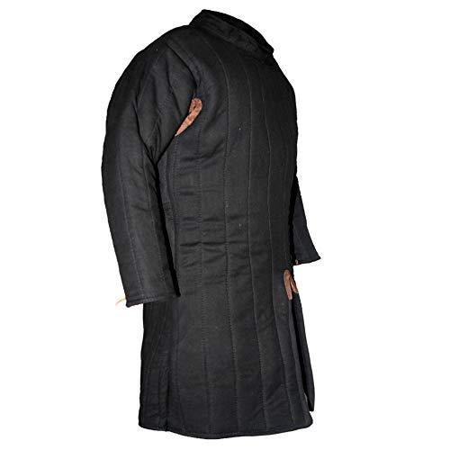 GDFB Hochmittelalter Gambeson/Größe XL/Farbe: schwarz/Mittelalter Rüstung/Get Dressed for Battle