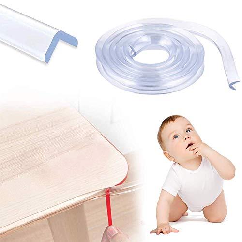 Kantenschutz, Eckenschutz für Baby Kinder Schutz, Transparent Tischkantenschutz mit 1 Rollen Doppelseitiges Klebeband, Extra Breiter Dicker(20 Fuß/6m)