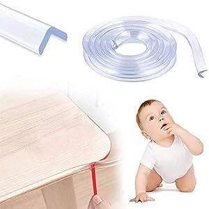 Protector para Esquinas, Protector para Bordes, Protector Borde Anti-Golpe, Espuma Forma de L para Mesa Borde, anticolisión Tira para Seguridad Bebés y niños,Suave Protectores para Bordes,6m