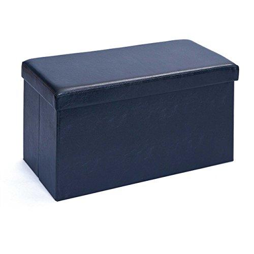 Inter Link Faltbox, Groß, Polyurethan, MDF, Schwarz, 38 x 38 x 38 cm, 1 Einheiten