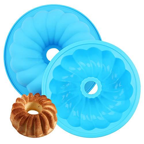 Molde de Silicona de Calabaza FANDE, Molde para Hornear Pasteles de 2 Piezas, Herramienta Creativa de Cocina DIY, Adecuado para Hornear Pasteles, Pan, Brownies (Azul)